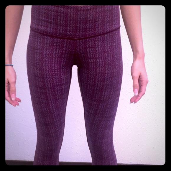 a950e08831 lululemon athletica Pants | Purple Pattern Lulu Lemons Leggings ...