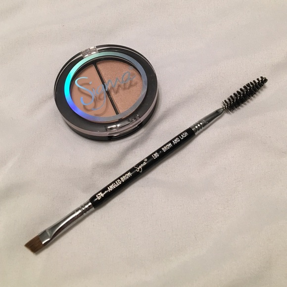 Sigma Beauty Makeup Sigma Angled Eyebrow Brush And Highlighter Duo Poshmark