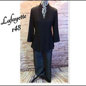 Lafayette 148 New York Tops - SZ 8 LAFAYETTE 148 BLACK TOP