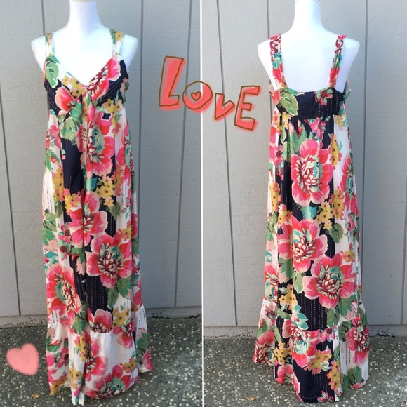 Johnny Was Dresses Silk Floral Buttonup Maxi Dress Poshmark