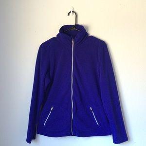 Lucy Jackets & Blazers - Lucy Electric Blue Fleece Zip Up Jacket Size M