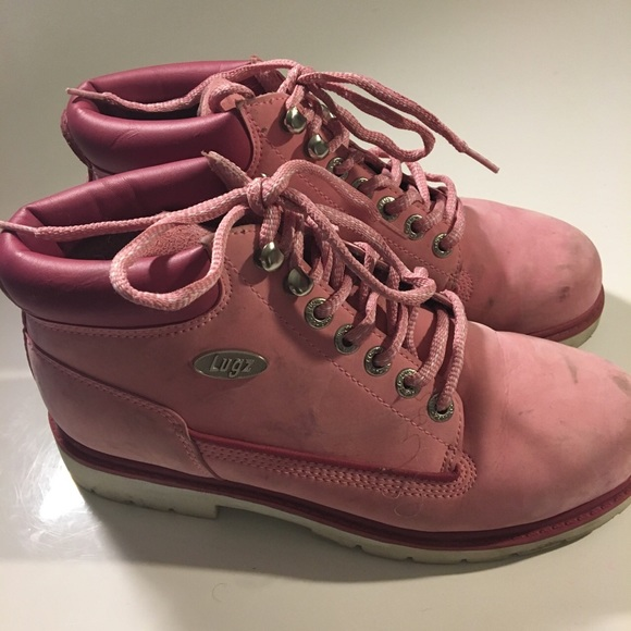 Shoes - V RARE PINK LUGZ ANKLE COMBAT BOOT
