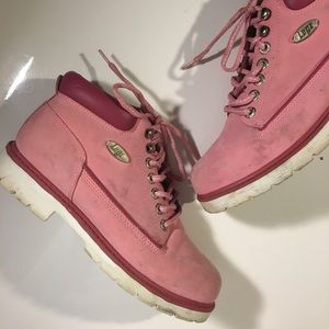Shoes - PINK LUGZ ANKLE COMBAT BOOT