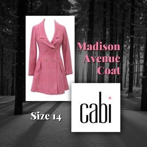 "CAbi ""Madison Avenue"" Coat, Pink, Size 14"