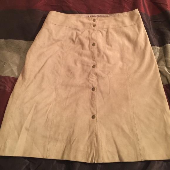 bde95a6692 Talbots Skirts   100 Goat Suede Skirt   Poshmark
