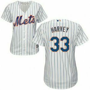 Majestic Tops - ⚾🗽 Women's New York Mets #33 Matt Harvey Jersey