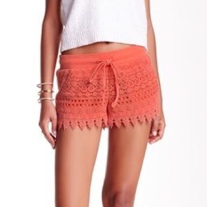Jolt Pants - NWT [Jolt] Crochet Tie Short in Coral - M