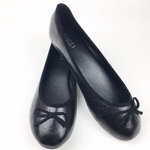 H2K Shoes - FINAL CLEARANCE Black Round Toe Ballet Flat Shoes
