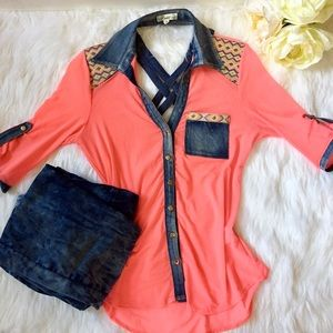 Lucy Pink Jean Blue Top