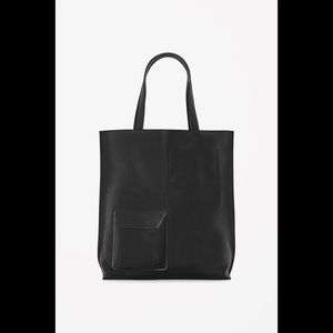 COS Black Leather Tote