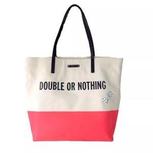 kate spade Handbags - Kate Spade Double or Nothing Canvas Shopper Bag