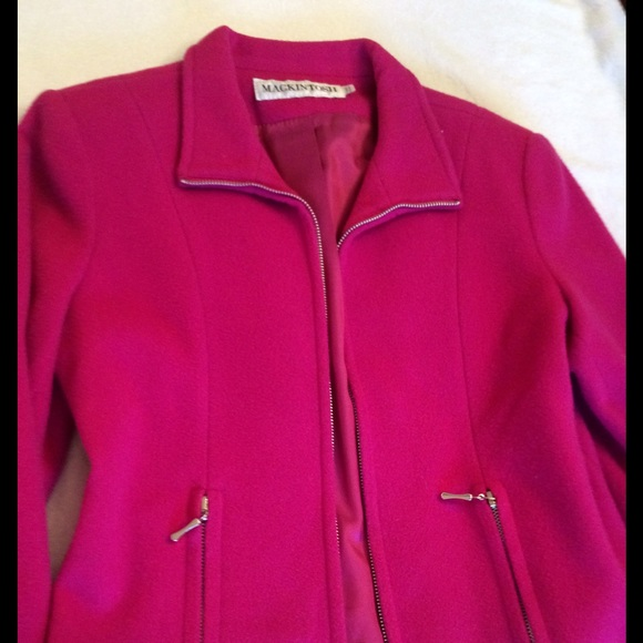 88% off mackintosh Jackets & Blazers - Hot Pink MACKINTOSH zip up ...
