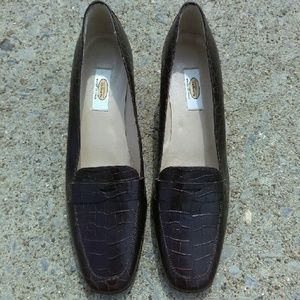 Talbots Faux Croc or Alligator Loafers