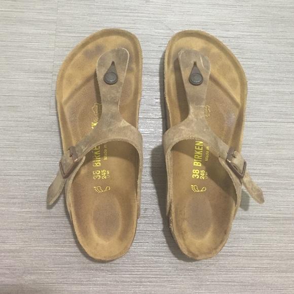 Birkenstock Shoes - Birkenstocks  GIZEH TOBACCO OILED LEATHER d931e86106a1
