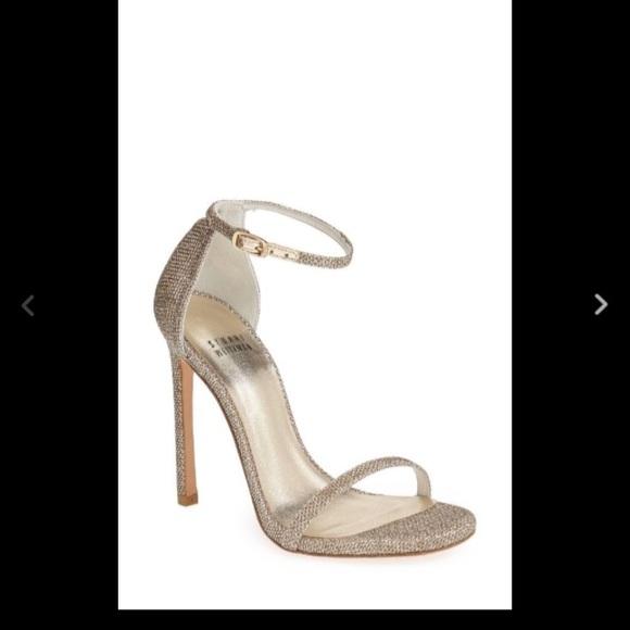 36be66d5d06a Stuart weitzman Nudist platinum sandals 9.5. M 57dd537f6d64bc0fb60112d6