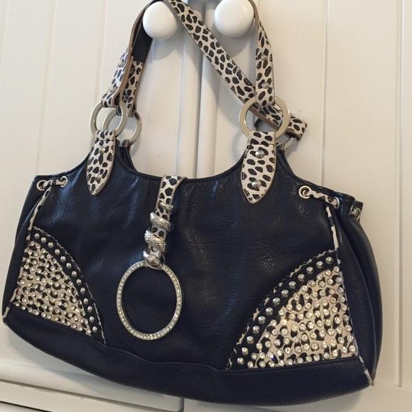 BLUE ELEGANCE Handbags - leopard and bling purse by BLUE ELEGANCE 00045705ab