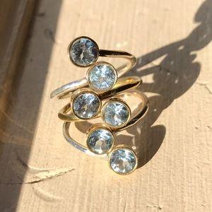 Topaz & Sterling Silver Ring