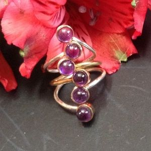 Amethyst & Sterling Silver Ring NWOT