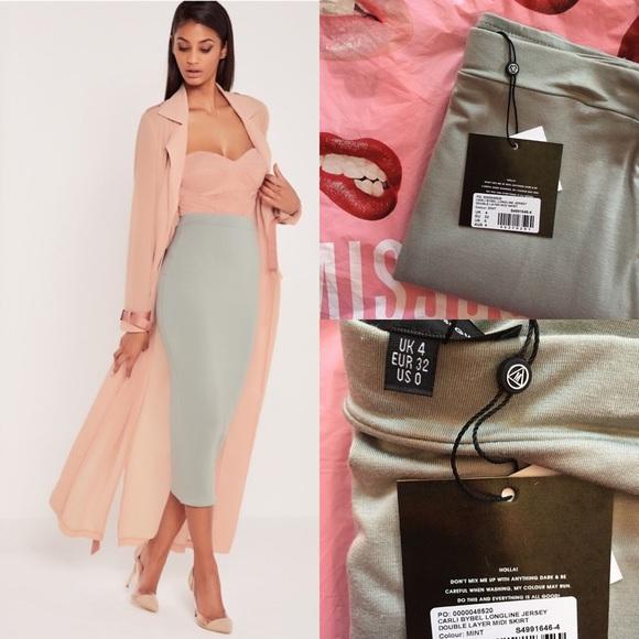 15eba88ee Missguided Skirts | Nwt X Carli Bybel Longline Midi Skirt | Poshmark
