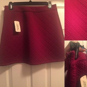 Magenta F21 Knit Skirt