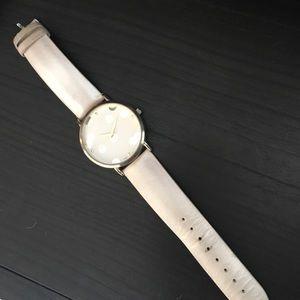 Geneva Platinum Jewelry - Beautiful cream and gold designer watch