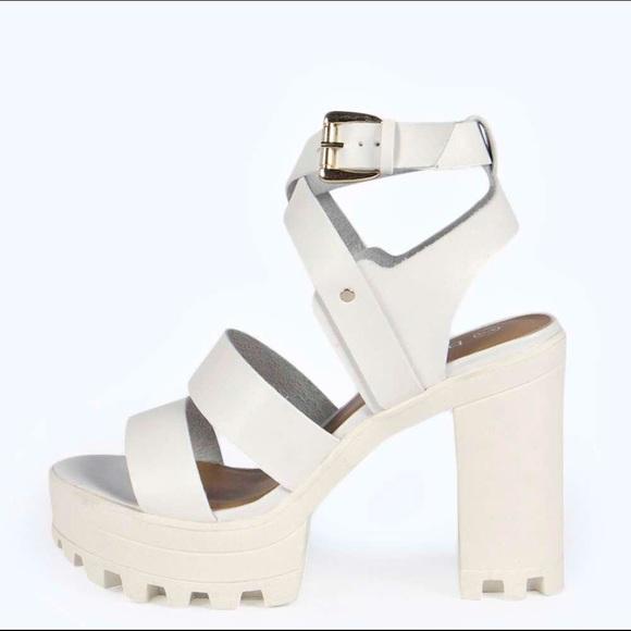 1bf5dd403c79 Boohoo Shoes - Boohoo cleated chunky platform sandal heel