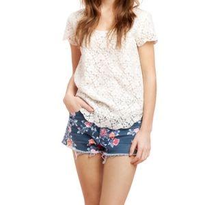 Aritzia lace blouse xxs