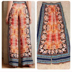 5c94b7e2c149a Anthropologie Pants - Anthropologie Ranna Gill wide leg silken pants