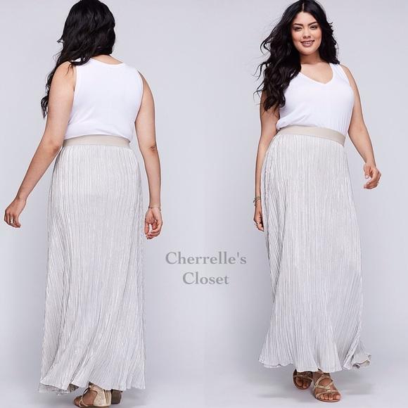 3eaca14cb Lane Bryant Skirts   Stunning Pleated Maxi Skirt Plus Size   Poshmark