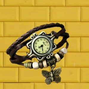 Jewelry - Hand-woven Retro Wrap Bracelet Watch Brown