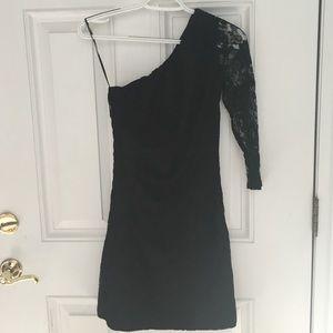 Express black lace dress size 2 side zipper