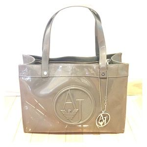 Armani Jeans patent leather handbag from Italy