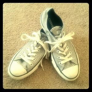 Converse Shoes - Rare Like New GAP+Converse Striped Chucks