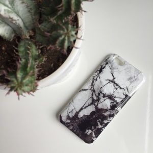 Accessories - Black and White Marble iPhone Case
