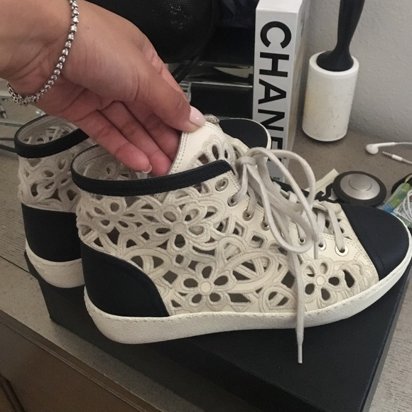 9b1879e255d8 CHANEL Shoes - Chanel sneakers flower see through 37.5