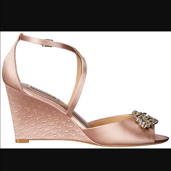 8c42cf8fd61 Badgley Mischka Shoes - Badgley Mischka Abigail wedge sandals