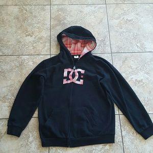 DC  Jackets & Blazers - DC full zip unisex logo hoodie