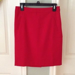 NWOT: LOFT red pencil skirt