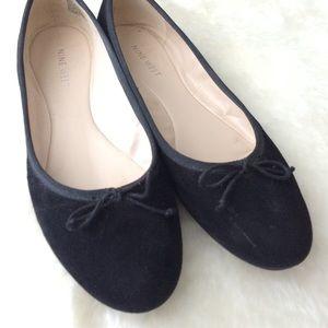 Nine West Shoes - Black suede ballet flats