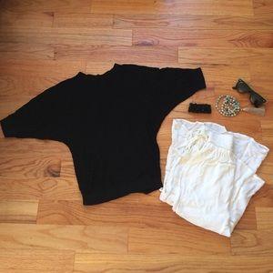 Mossimo S black dolman sweater top