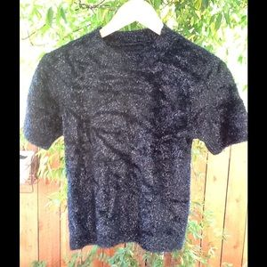 Women's Vintage 90's Goth Fuzzy Blouse Small