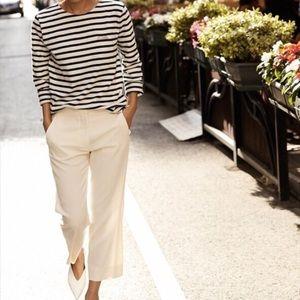 Celine runway silk crop trouser