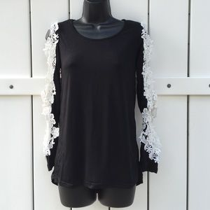 Tops - High/ low top with lace