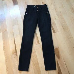 Refuge Hi-Waist Super Skinny Blue Jeans