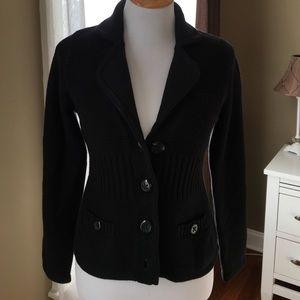 Black sweater jacket from Apt 9
