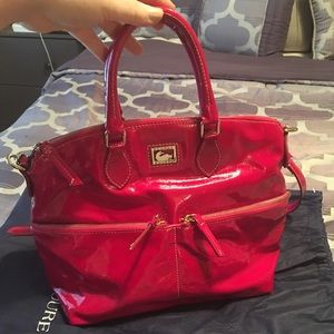 Dooney & Bourke Hot Pink Patent Leather Hobo