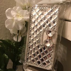 iPhone 6 Bling Wallet Case (Brand New)