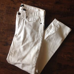 Jcrew matchstick white jeans