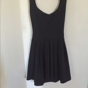 Black mini dress,heart cut out back