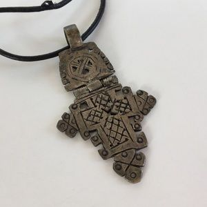 Free People Jewelry - 🎉😲💥African cross pendant with hinge